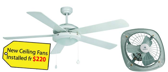 Ceiling fan installation perth